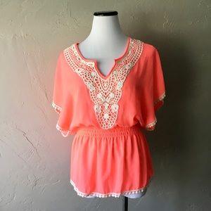 Miss chievous neon boho crochet top